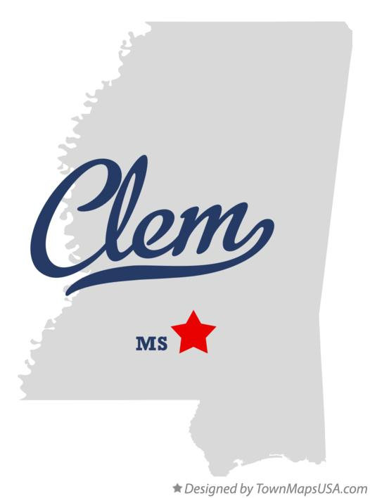 Map of Clem Mississippi MS