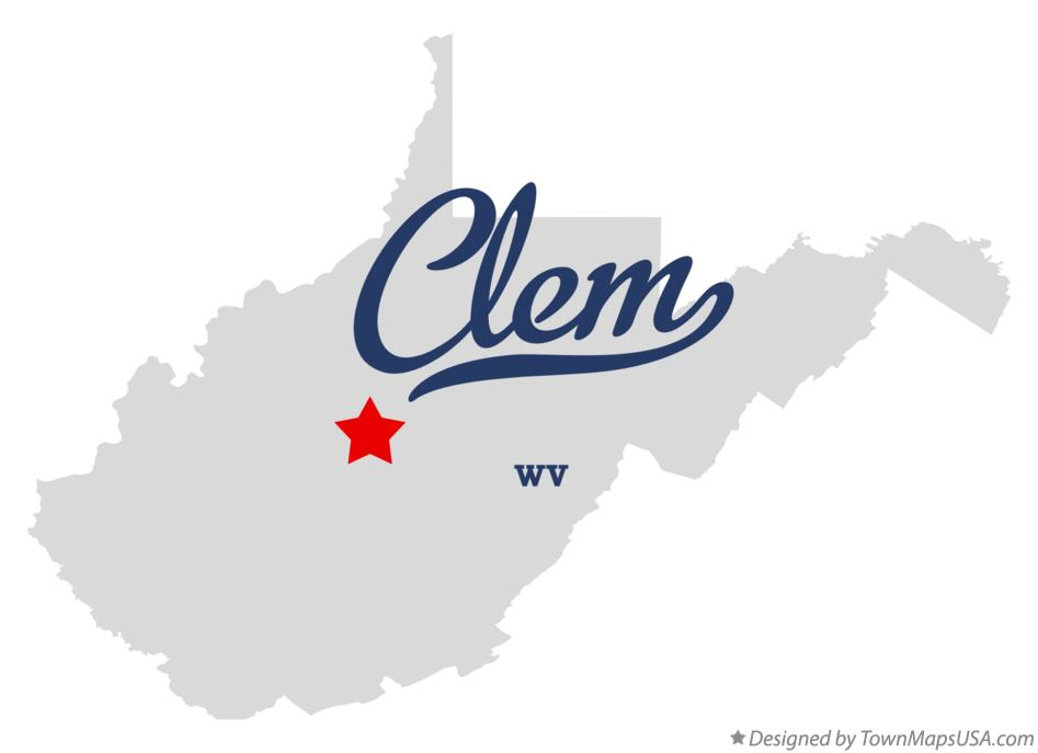 Map of Clem West Virginia WV