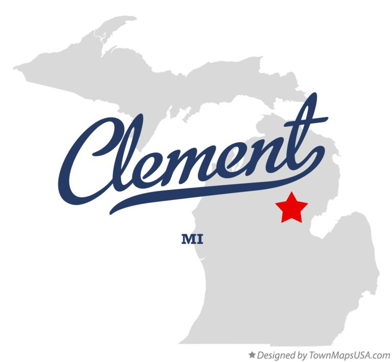 Map of Clement Michigan MI