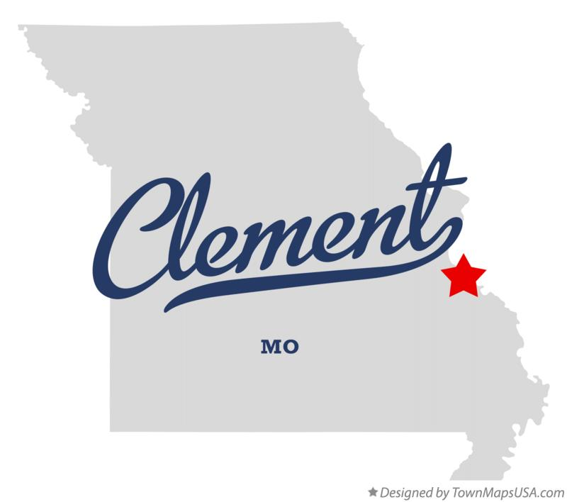 Map of Clement Missouri MO