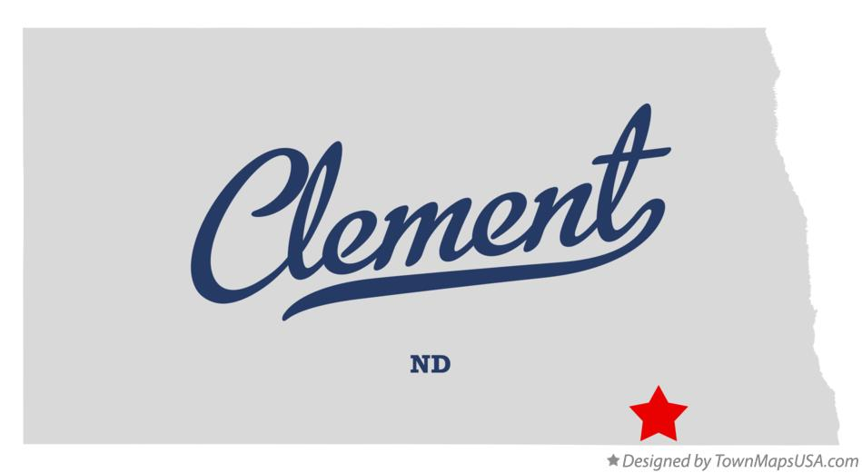Map of Clement North Dakota ND