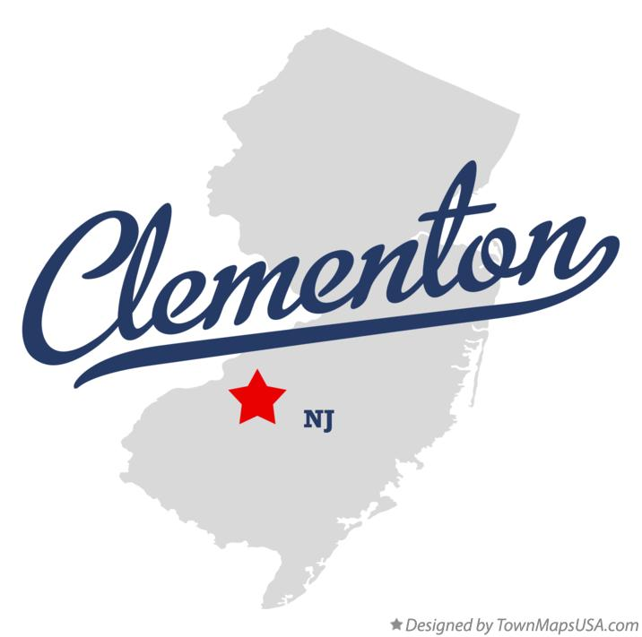 Map of Clementon New Jersey NJ