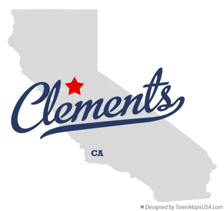 Map of Clements California CA