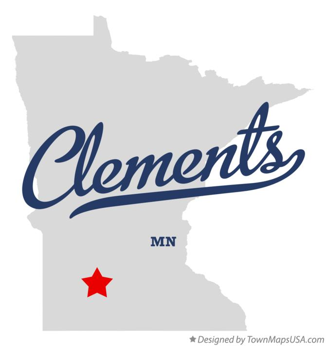 Map of Clements Minnesota MN