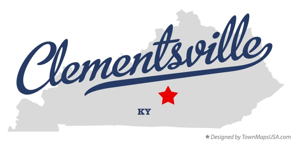 Map of Clementsville Kentucky KY
