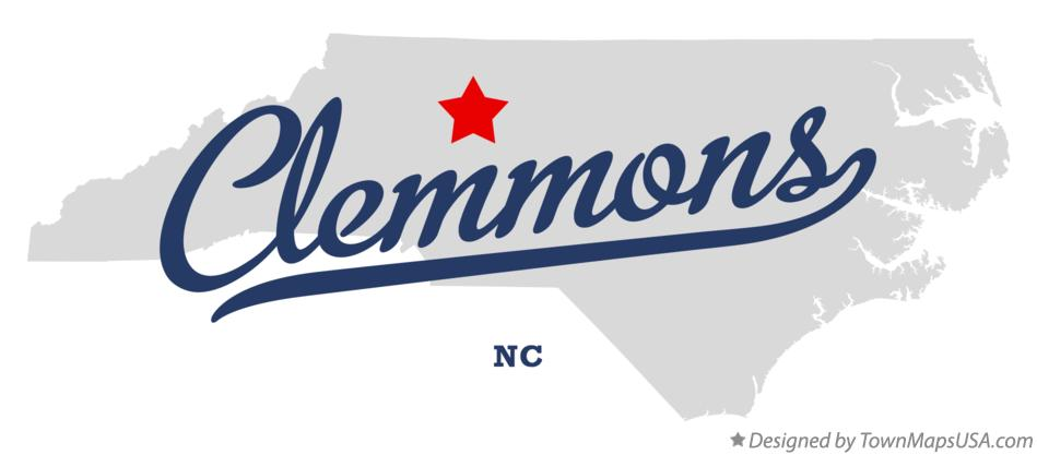 Map of Clemmons North Carolina NC