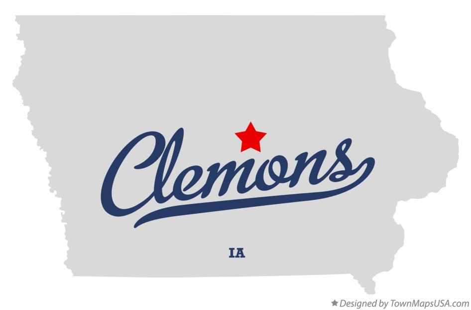 Map of Clemons Iowa IA