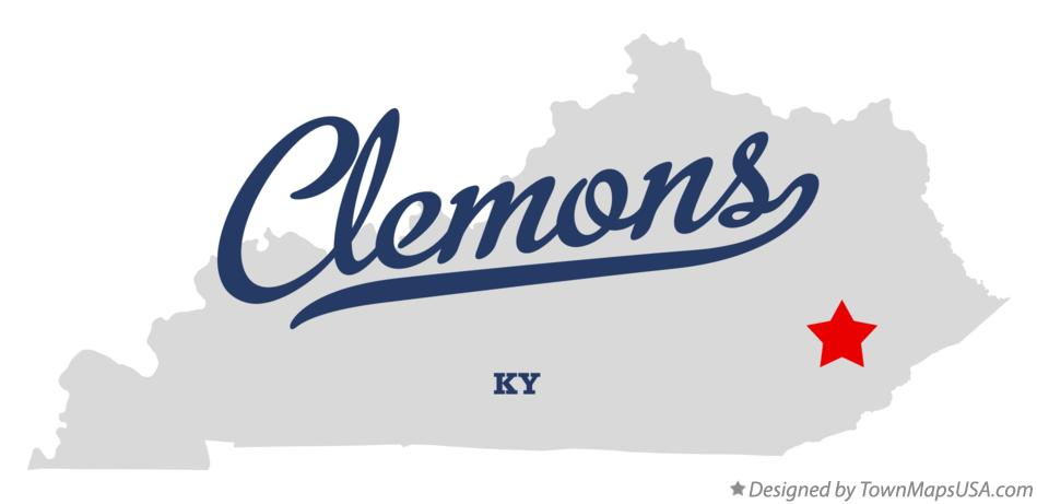 Map of Clemons Kentucky KY