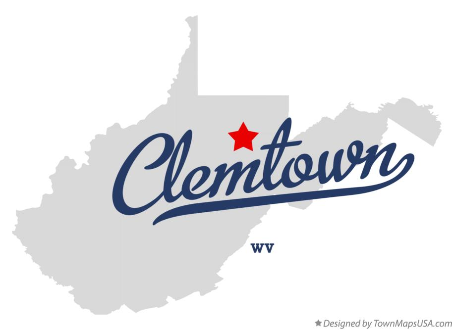 Map of Clemtown West Virginia WV