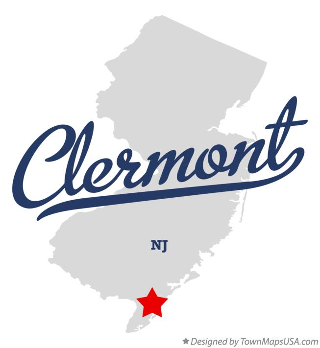 Map of Clermont New Jersey NJ