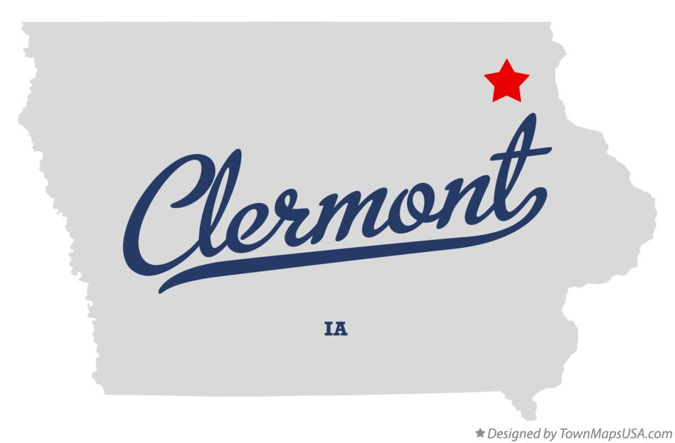 Map of Clermont Iowa IA