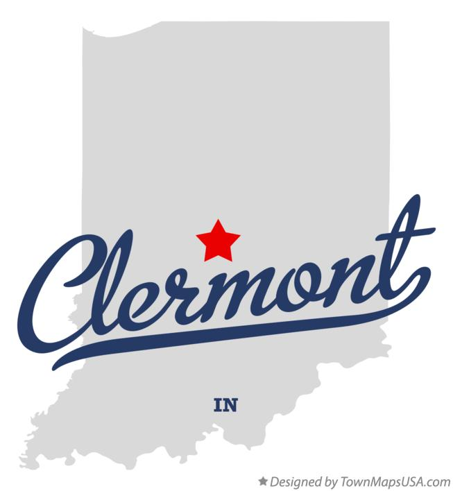 Map of Clermont Indiana IN