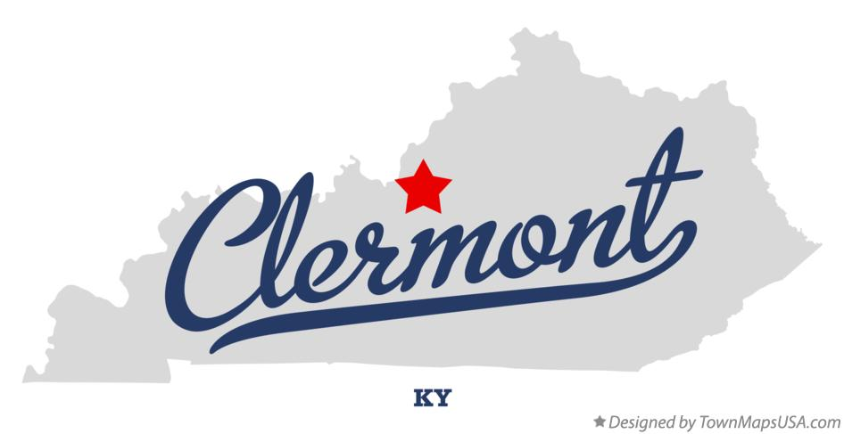 Map of Clermont Kentucky KY
