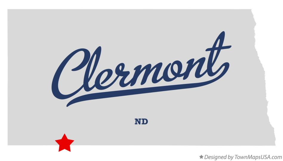 Map of Clermont North Dakota ND