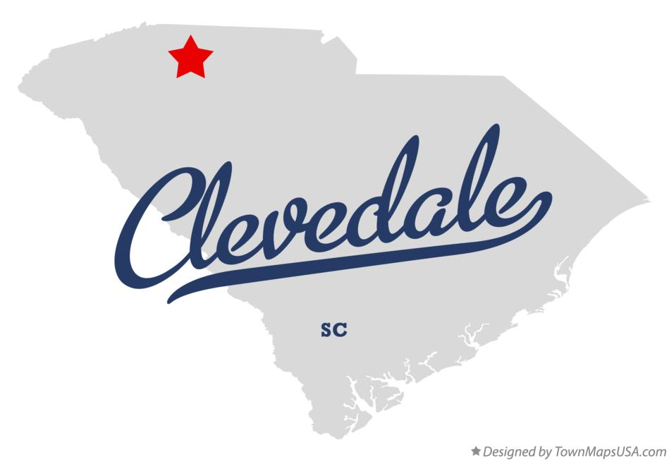 Map of Clevedale South Carolina SC
