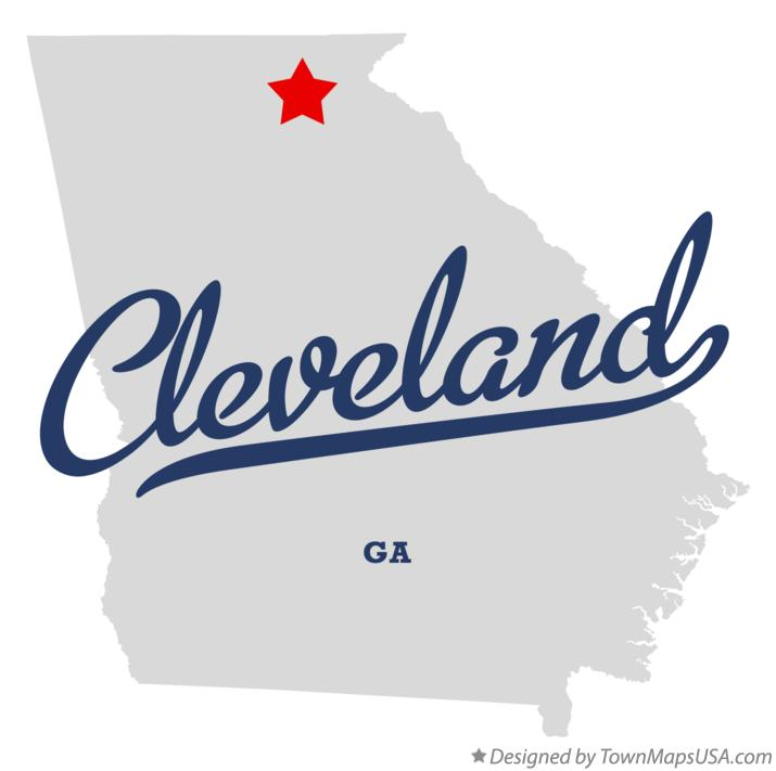 Map of Cleveland Georgia GA