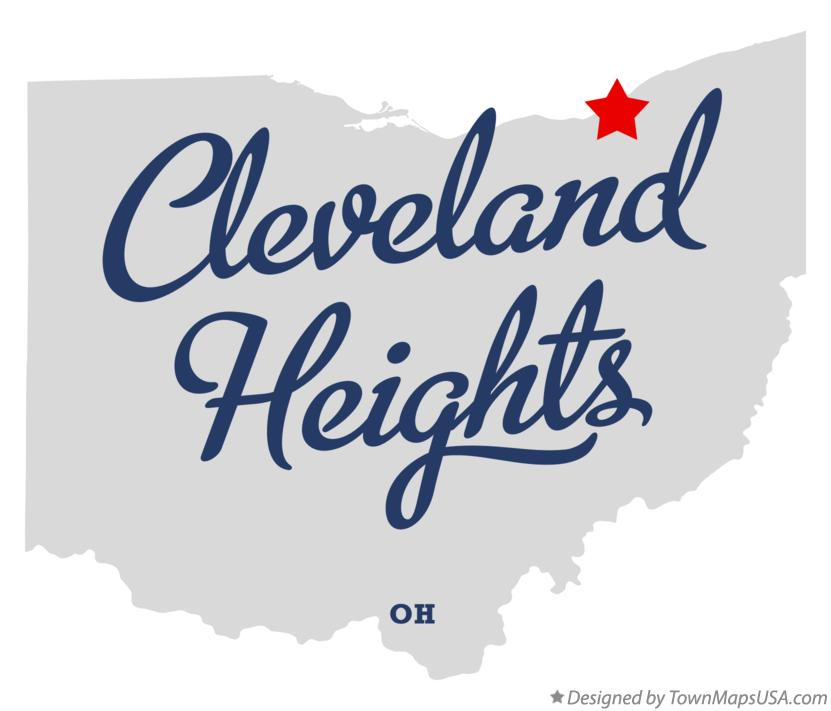 Map of Cleveland Heights Ohio OH