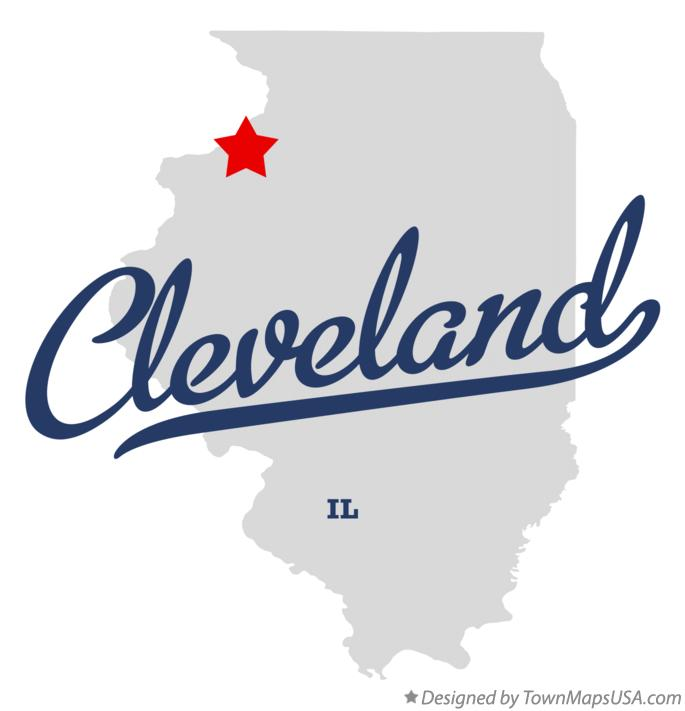 Map of Cleveland Illinois IL