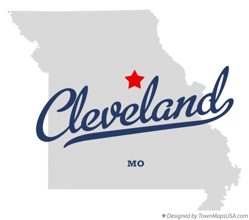 Map of Cleveland Missouri MO