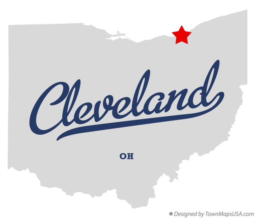 Map of Cleveland Ohio OH