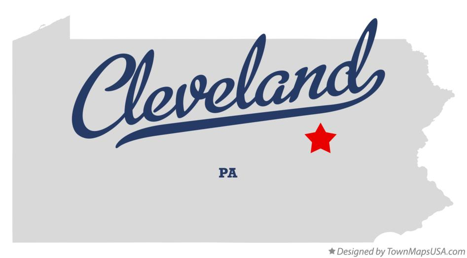 Map of Cleveland Pennsylvania PA
