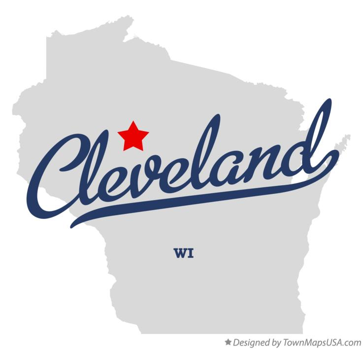Map of Cleveland Wisconsin WI