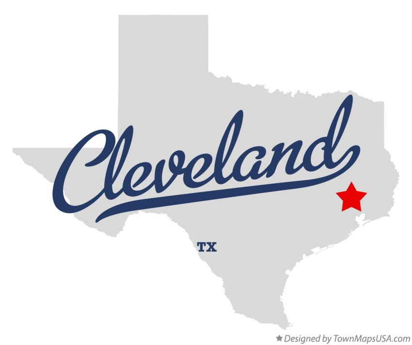 Map of Cleveland Texas TX