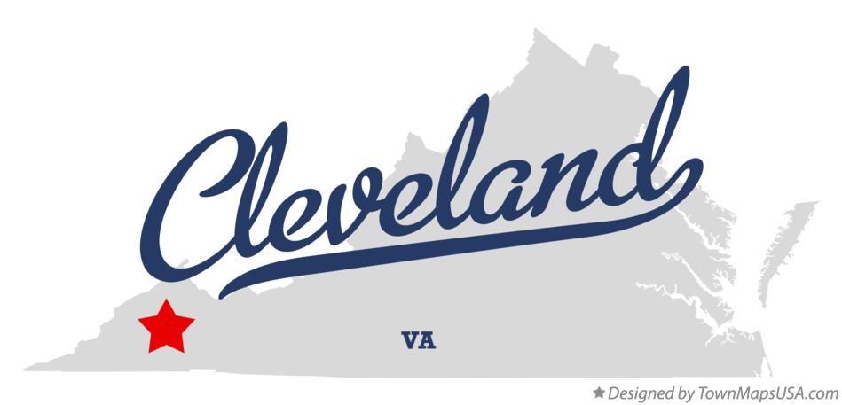 Map of Cleveland Virginia VA