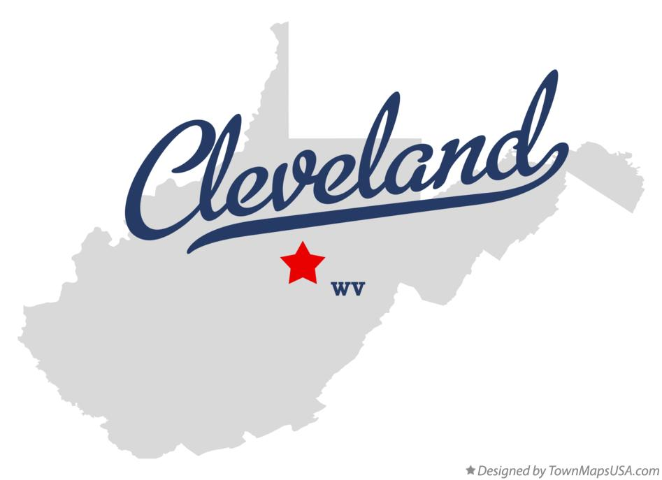 Map of Cleveland West Virginia WV