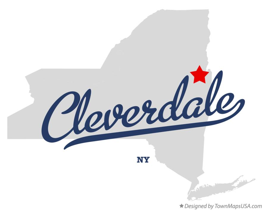 Map of Cleverdale New York NY