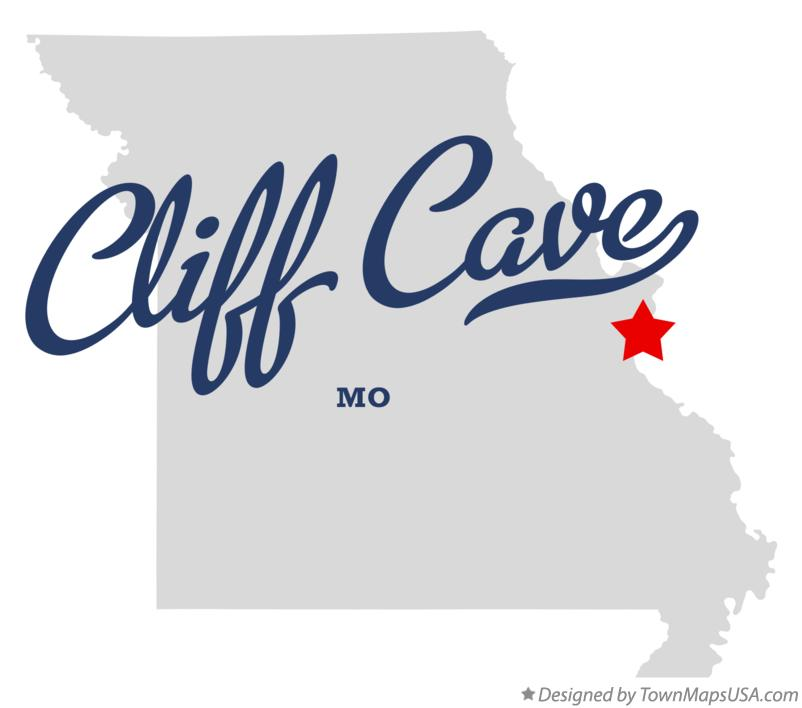 Map of Cliff Cave Missouri MO