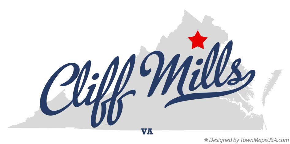 Map of Cliff Mills Virginia VA