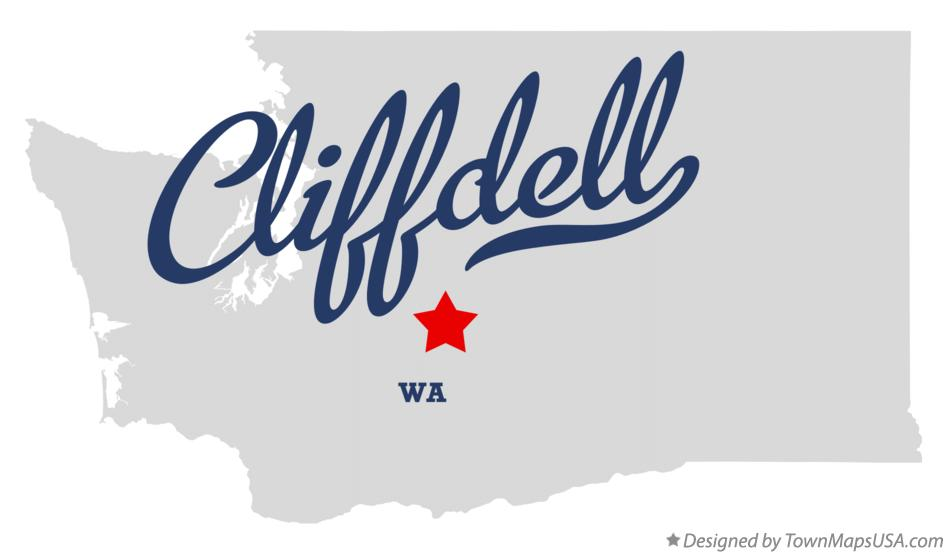 Map of Cliffdell Washington WA