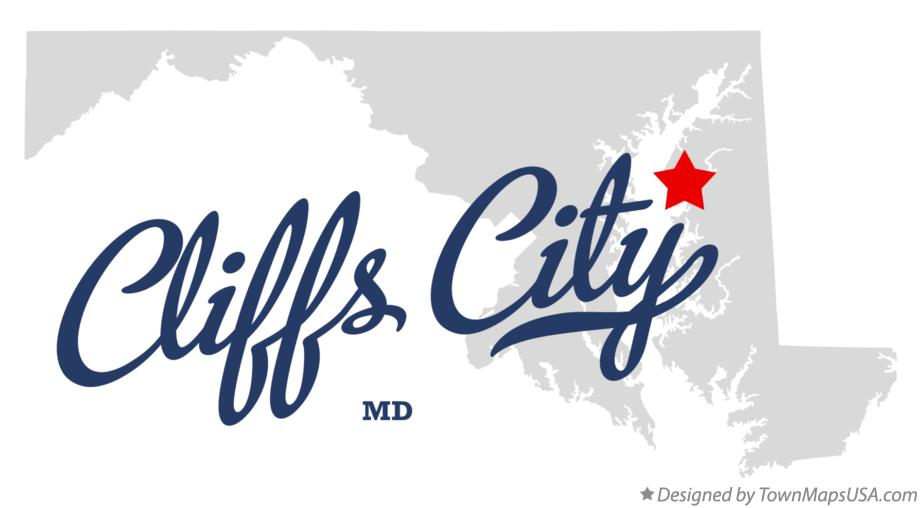 Map of Cliffs City Maryland MD