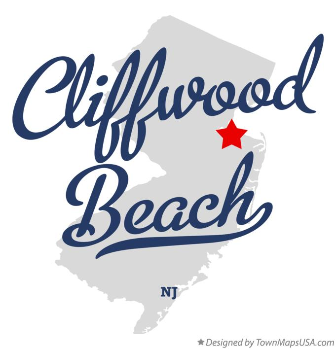 Map of Cliffwood Beach New Jersey NJ
