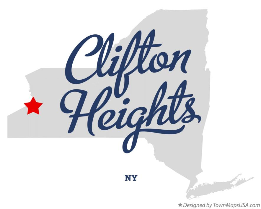 Map of Clifton Heights New York NY