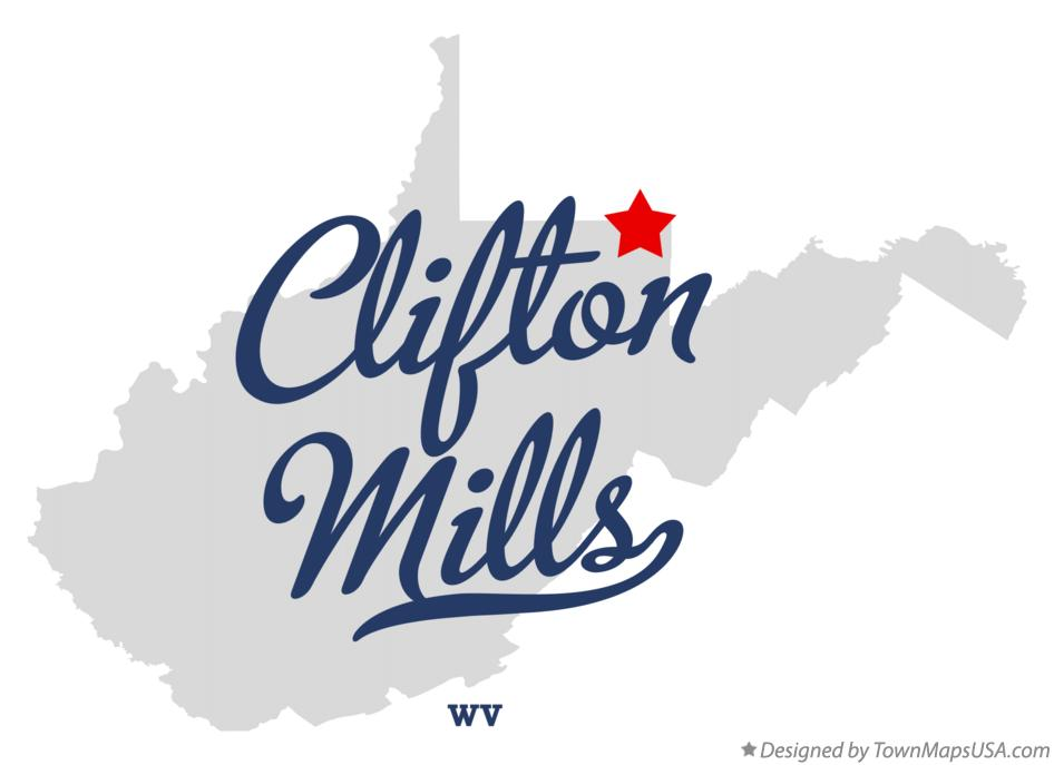 Map of Clifton Mills West Virginia WV