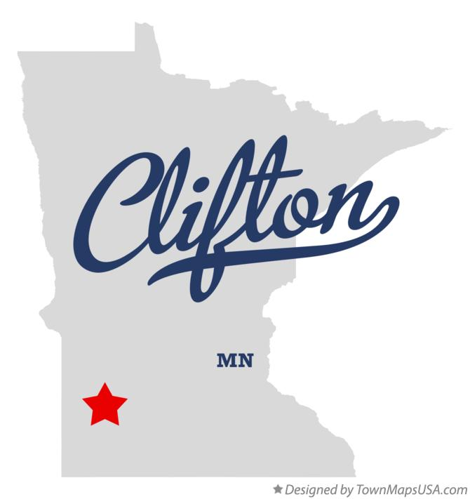 Map of Clifton Minnesota MN