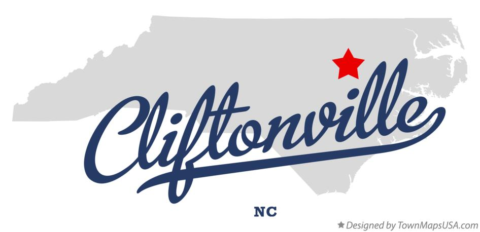 Map of Cliftonville North Carolina NC