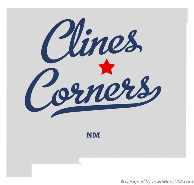 Map of Clines Corners New Mexico NM