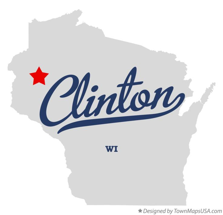 Map of Clinton Wisconsin WI