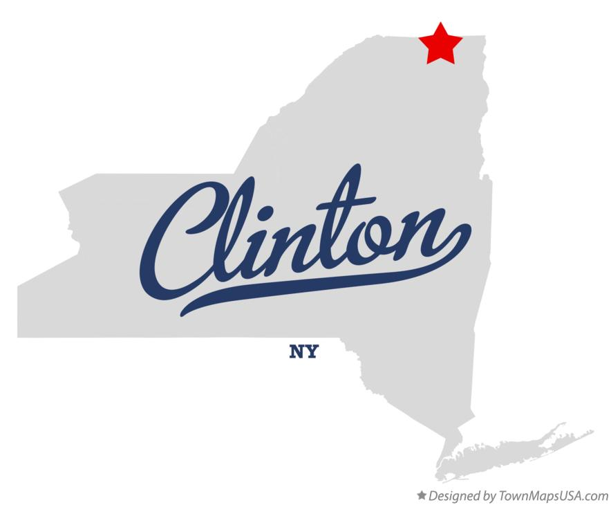 Map of Clinton New York NY