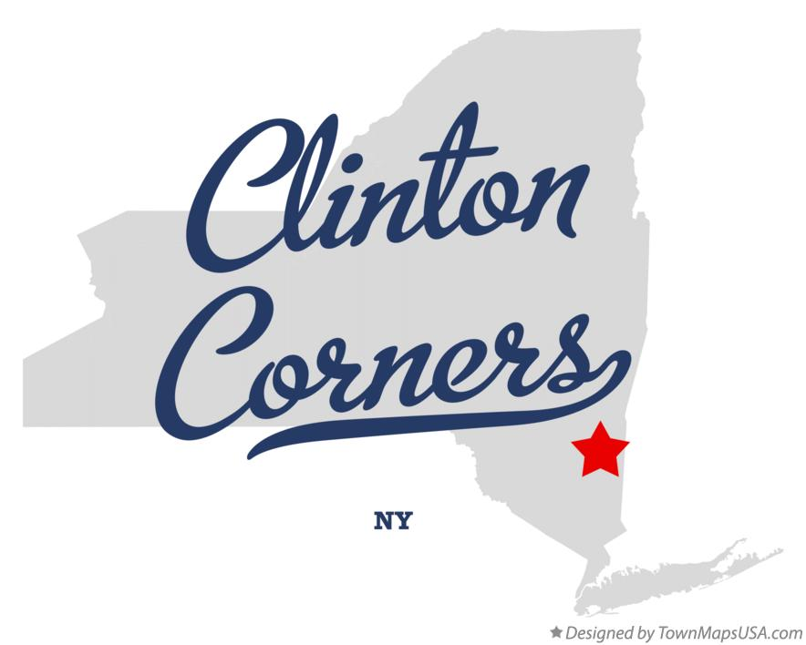 Map of Clinton Corners New York NY
