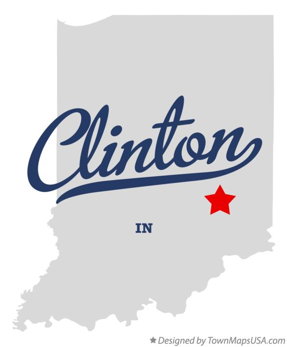 Map of Clinton Indiana IN