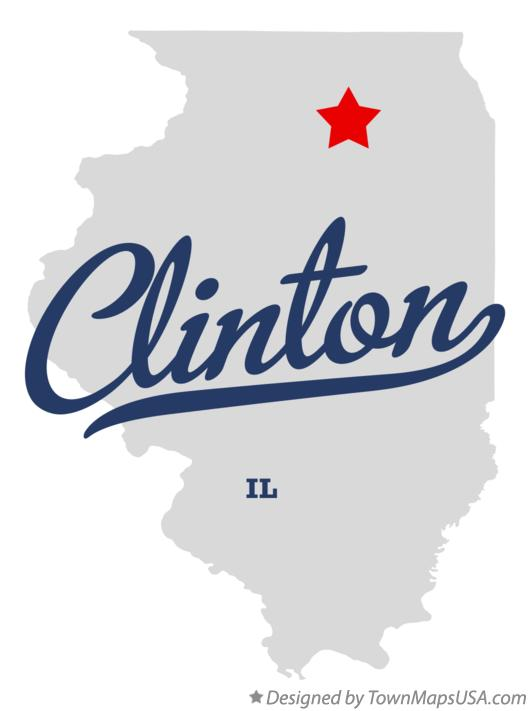 Map of Clinton Illinois IL