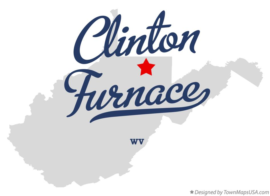 Map of Clinton Furnace West Virginia WV