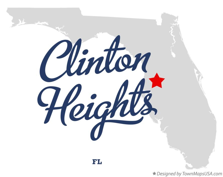Map of Clinton Heights Florida FL