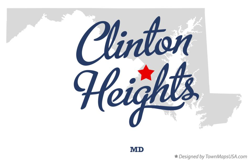 Map of Clinton Heights Maryland MD