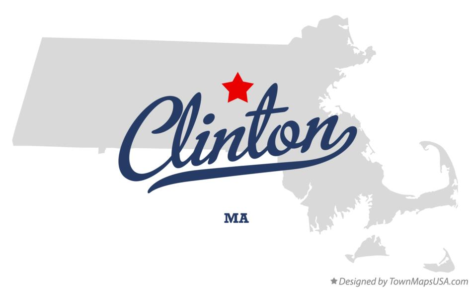 Map of Clinton Massachusetts MA