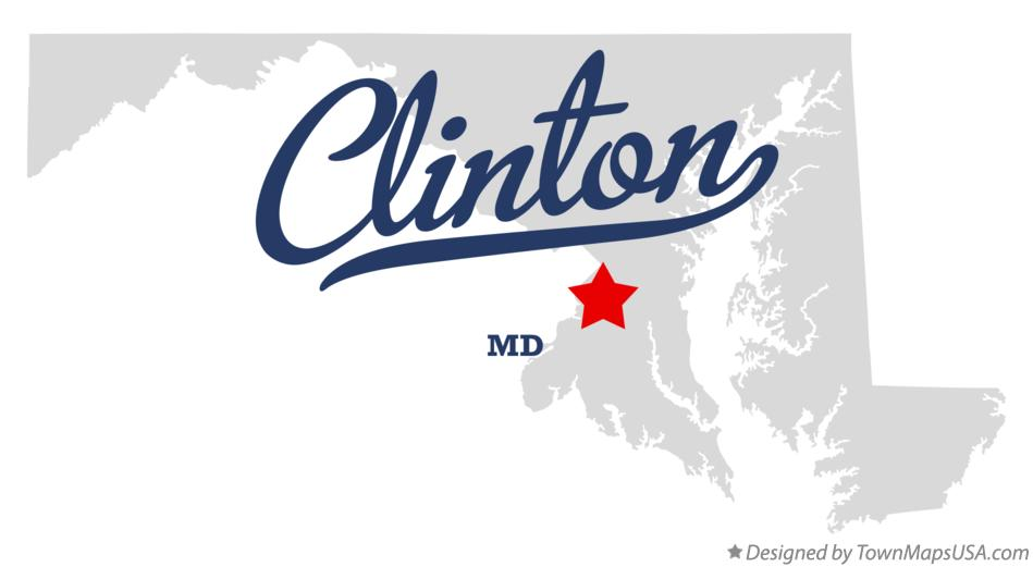 Map of Clinton Maryland MD